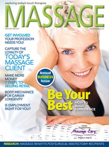 Massage Magazine May 2013 Cover